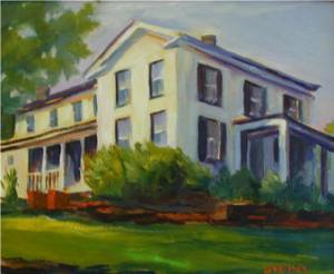 Mcintosh house, painting by Phyllis Eaton Steimel